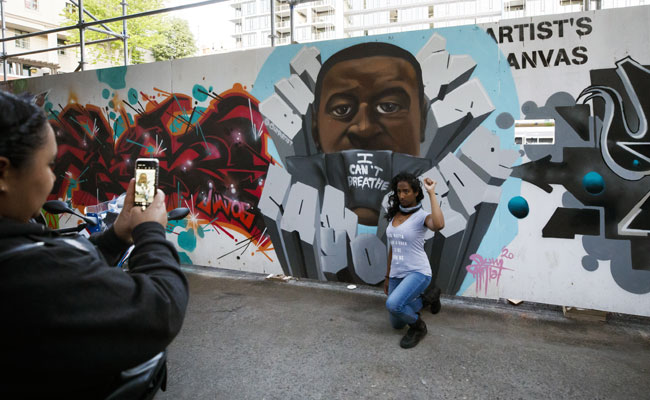 Toronto's 'Graffiti Alley' Repainted To Honour George Floyd, Fight Racism