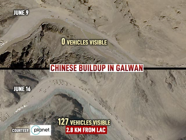 Video: China Moved 200 Trucks, Bulldozers Near LAC In Galwan In A Week