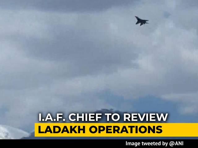 Video : Air Force Chief Visits Ladakh, Fighter Jets, Choppers Seen Over Leh