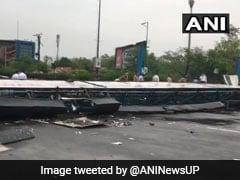 Billboard Collapses On Delhi Noida Flyway As Rain, Thunderstorm Hit Delhi, Adjoining Areas