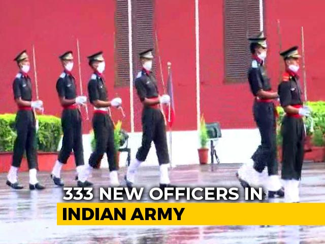 Video : Masks On, Young Officers March At IMA Passing Out Parade Without Parents
