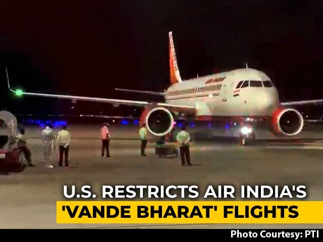 """Video : US Restricts Special Flights From India, Alleges """"Unfair Practices"""""""