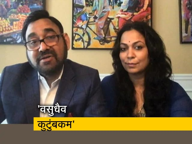 Videos : बॉस्टन में रहने वाले अमेरिकी समाजेसवी वंदना शर्मा और विवेक शर्मा ने भारतीय प्रवासियों का किया मदद