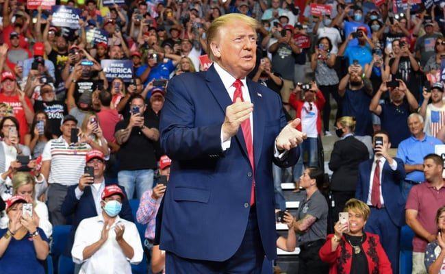 Trump Holds Fiery Rally For First Time In 3 Months, Staff Test Positive