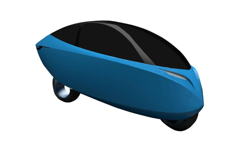 The design patents revealed in China show a radical new enclosed motorcycle design
