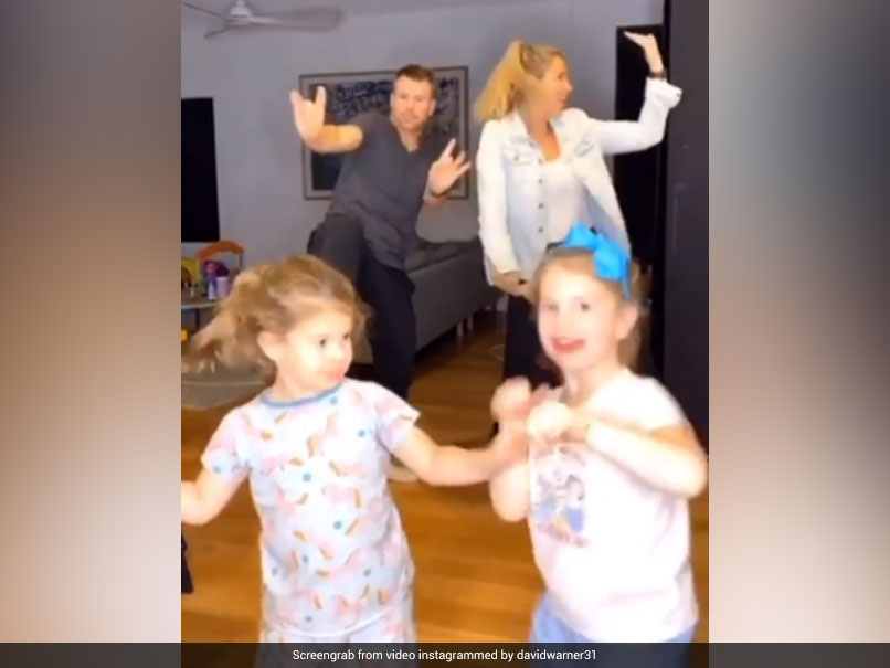 """Watch: David Warner Teams Up With Wife, Daughters To Perform """"Family Bhangra"""""""
