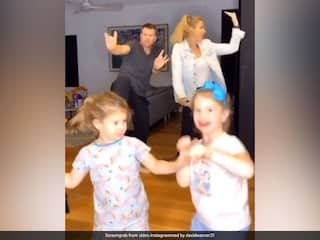 "Watch: David Warner Teams Up With Wife, Daughters To Perform ""Family Bhangra"""