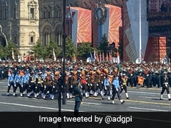 Watch: India's Tri-Service Contingent Marches In Moscow On Victory Day