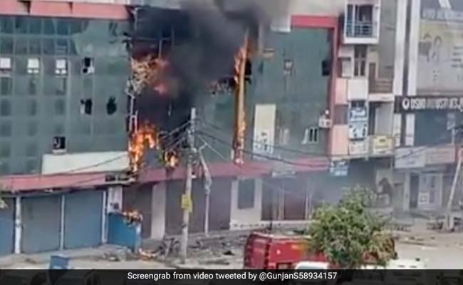 Fire Breaks Out At Shopping Complex In Northwest Delhi