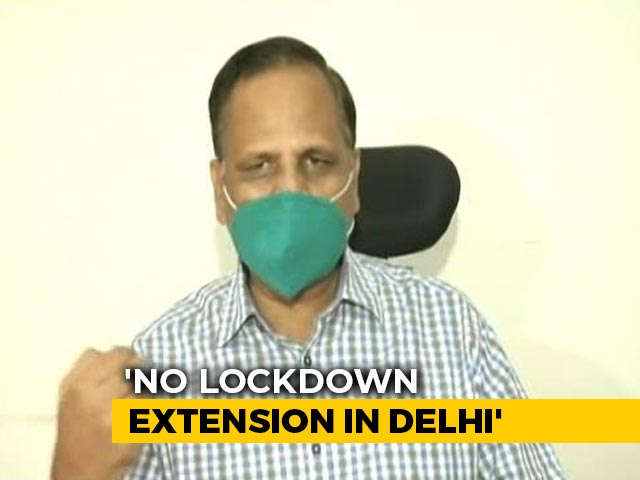 "Video : ""Lockdown Will Not Be Extended"": Delhi Minister Amid Spike In Virus Cases"