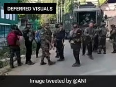 Gunshots Heard, Smoke In Video Of J&K Encounter, 3 Terrorists Killed