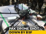 Video : Pak Drone On Mission To Drop Weapons For Terrorists Shot Down In J&K