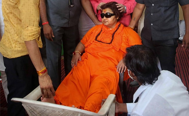 BJP MP Pragya Thakur Faints At Event In Bhopal Party Office
