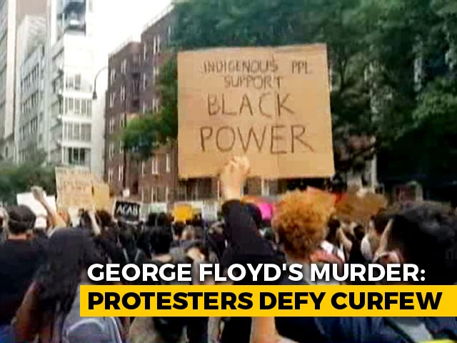 "Video : ""Black Lives Matter"" Chant Amid Massive Black Tuesday Protests In US"