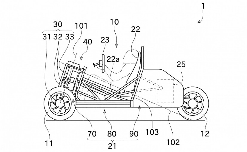 Kawasaki Patents Reveal New Three-Wheeled Vehicle