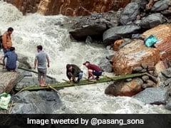Strategic Bridge Connecting Remote Arunachal District Near China Border Washed Away
