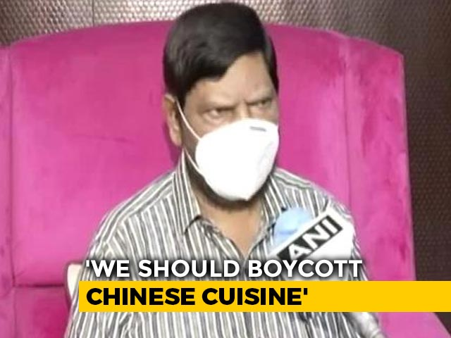 "Video : Boycott Chinese Food, Says Union Minister Who Shouted ""Go Corona"""