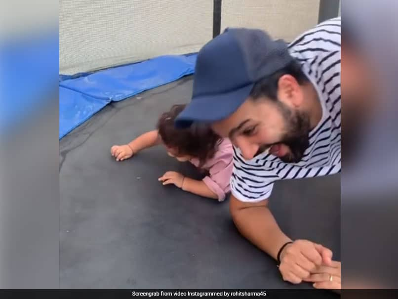 Rohit Sharma Shares Adorable Video Of Him Playing With Daughter Samaira Watch Cricket News
