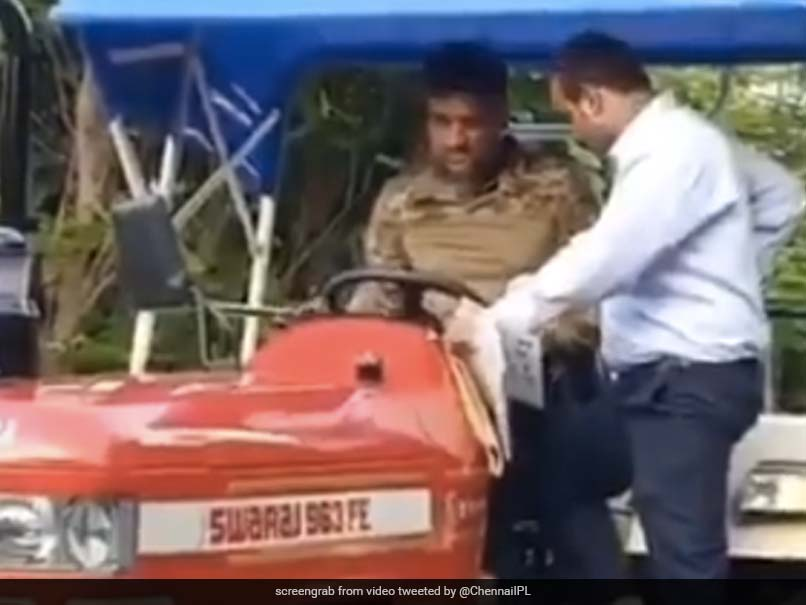 """Watch: CSK Shares Video Of MS Dhoni Enjoying A Ride In His """"Newest Beast"""""""