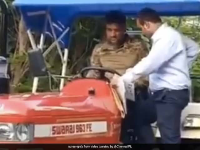 Watch: CSK Shares Video Of MS Dhoni Enjoying A Ride In His