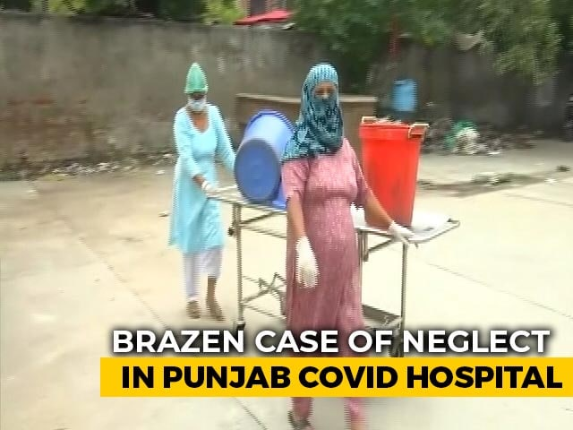 Video : Staff At Amritsar's COVID-19 Hospital Use Stretchers To Carry Waste