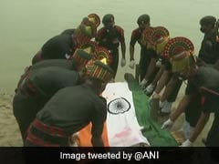 Guard Of Honour, Sea Of Crowd At Jawan's Funeral In Patna