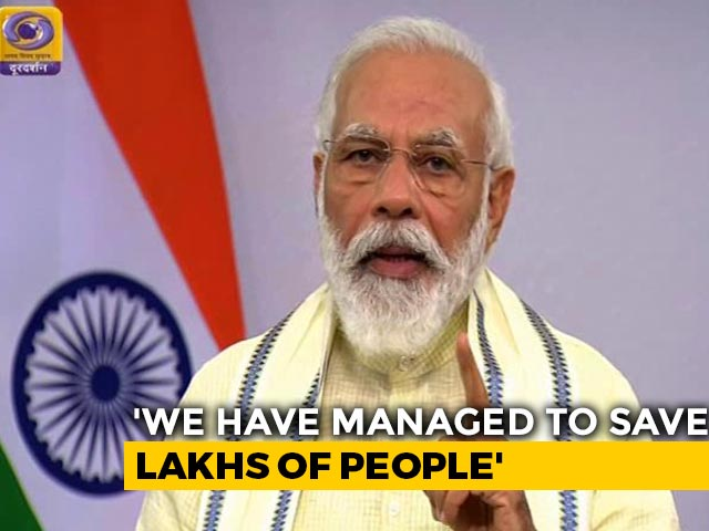 Video : PM Modi Says 80 Crore People To Get Free Ration Till November-End