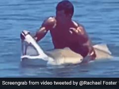 समुद्र में शख्स के हाथ में आई शार्क तो ऐसे जबड़ा पकड़कर खोल दिया मुंह और फिर... देखें Shocking Video