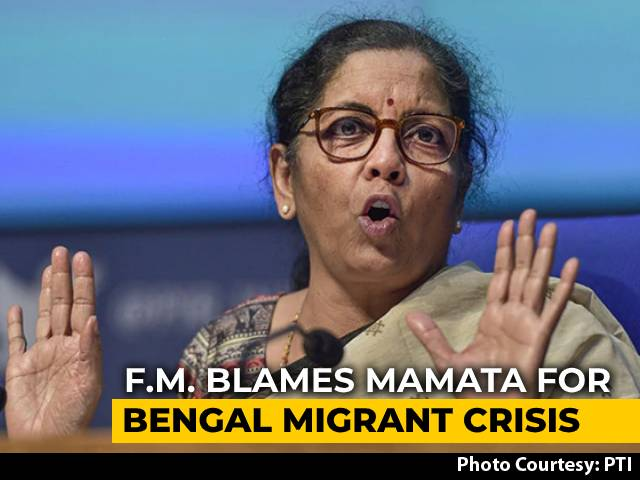 Video : Bengal Didn't Share Data, Missed Migrants Job Scheme: Nirmala Sitharaman