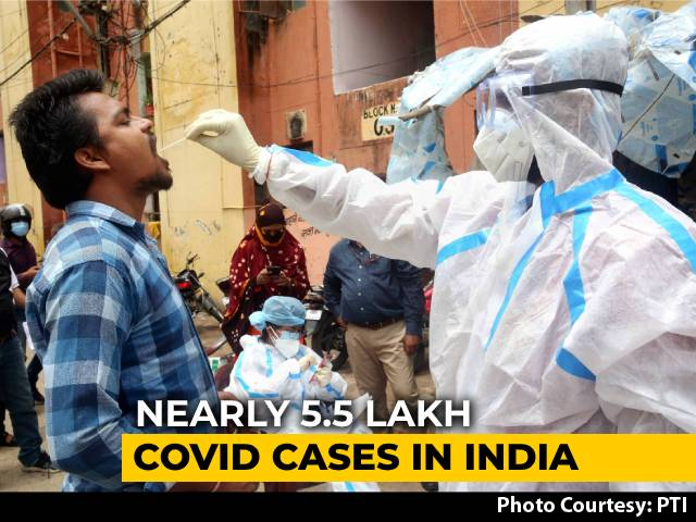 Video : Nearly 5.5 Lakh Coronavirus Cases In India