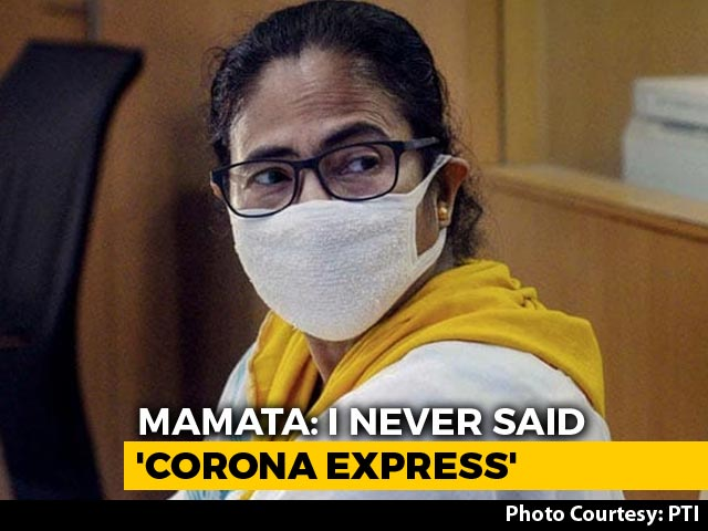 "Video : ""Never Said Corona Express"": Mamata Banerjee Parries Amit Shah Attack"