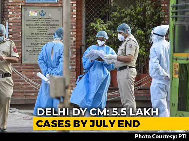 Video : 5.5 Lakh Coronavirus Cases Expected In Delhi By July 31: AAP Government