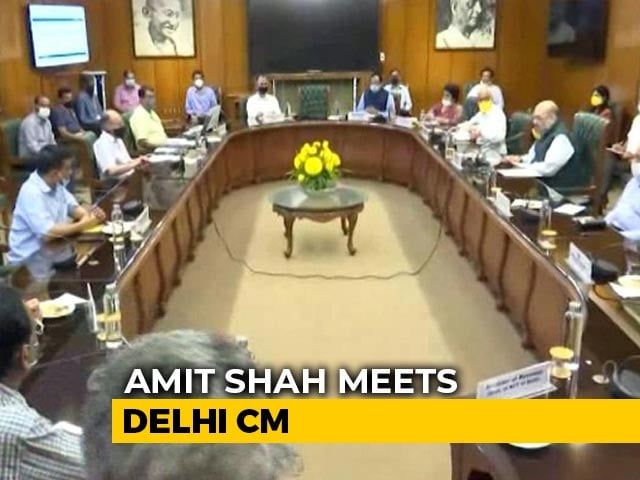 Video : Amit Shah Holds Third Meet In A Week With Arvind Kejriwal On Coronavirus