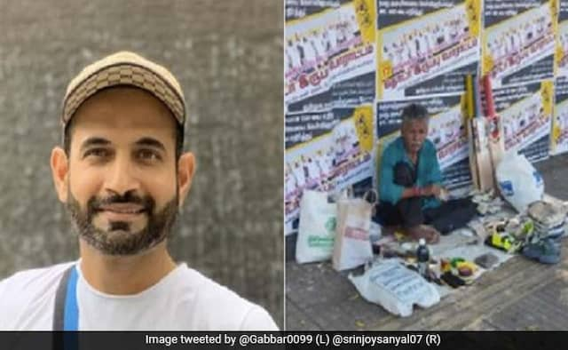 Irfan Pathan helps out Bhaskaran a cobbler, who depends on the IPL for yearly income