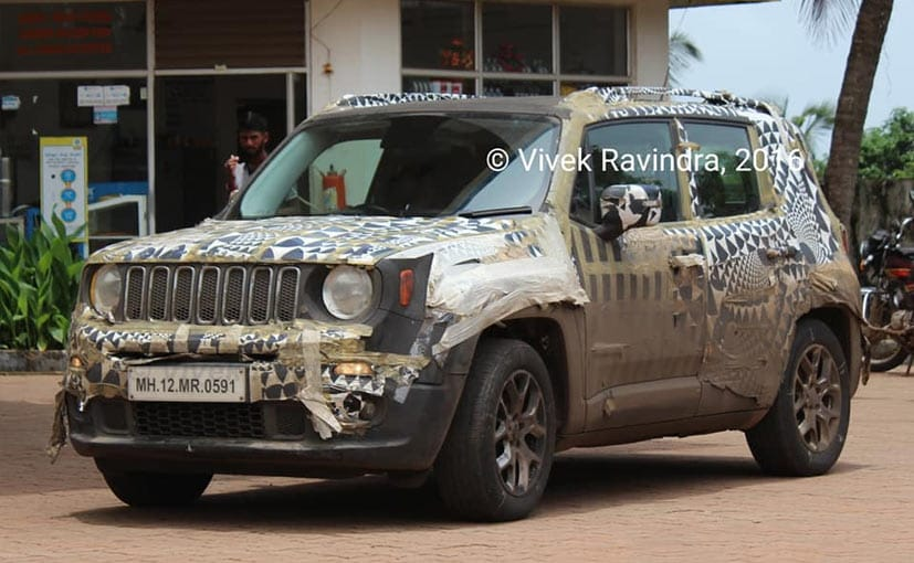 The Jeep Renegade was spotted testing on the Goa-Mangalore highway