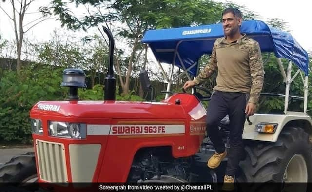 MS Dhonis Video Of Driving Tractor goes Viral