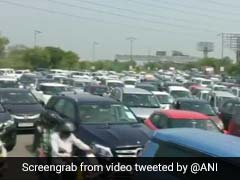 Traffic Jam At Delhi-Noida Flyway As Capital's Borders Reopen