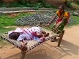 Video : Odisha Woman Drags 100-Year-Old Mother On Cot To Bank For Paperwork