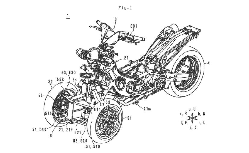 Yamaha Patents Reveal New Leaning Three-Wheeler