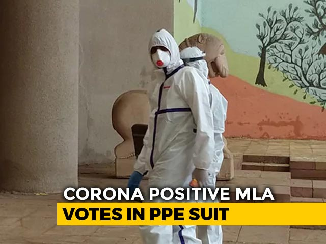 Video : Congress MLA Who Has Coronavirus Votes In PPE Suit For Rajya Sabha Polls