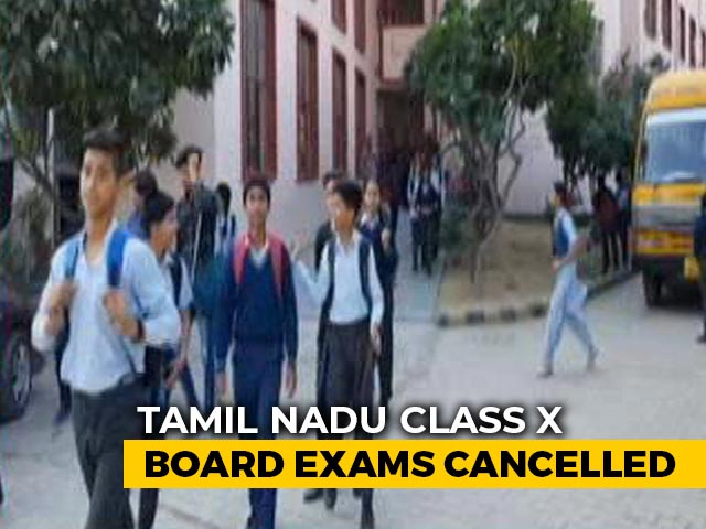 Video : Class 10 Board Exams Cancelled In Tamil Nadu, Puducherry; All Students Promoted