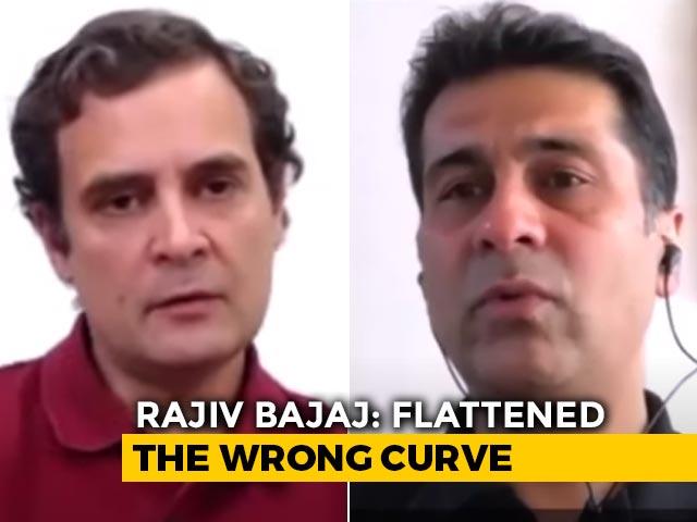 "Video : ""Draconian Lockdown,"" Says Industrialist Rajiv Bajaj To Rahul Gandhi"