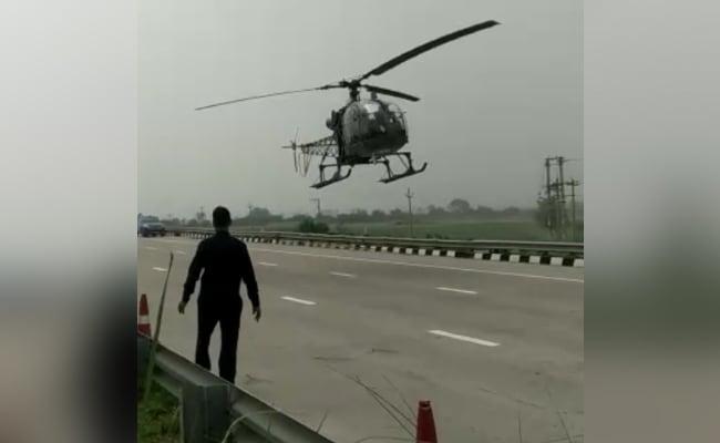 Watch: Air Force Chopper Makes Emergency Landing On Highway In Haryana