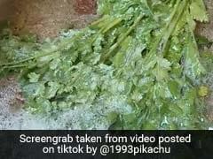 कोरोना के डर से लड़की ने साबुन से धोया धनिया, TikTok पर 4 करोड़ से ज्यादा बार देखा गया यह Video