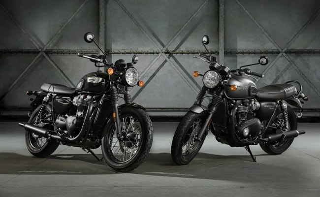 Triumph Bonneville T100 Black And T120 Black: Price Expectation