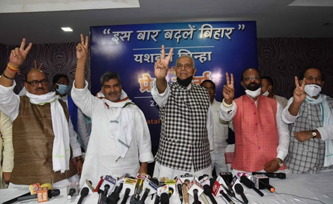 Yashwant Sinha Announces New Front To Contest Bihar Assembly Polls