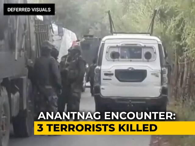 Video : 3 Terrorists Killed In Encounter In J&K's Anantnag