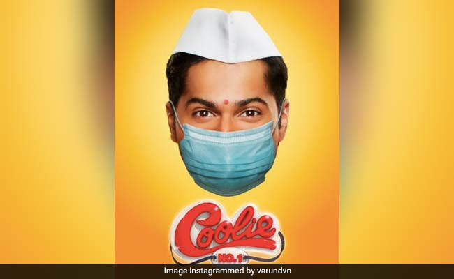 Varun Dhawan's Coolie No 1 Poster, Complete With Mask