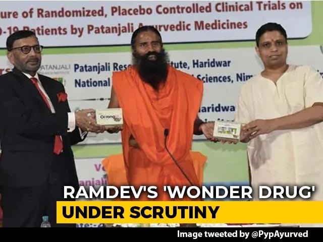 Video : Ayush Minister Shripad Naik's Reaction To Ramdev's Patanjali's COVID Drug Claims