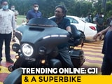Video : Photo Of Chief Justice Bobde On A Harley Bike Thrills Twitter
